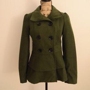 Peplum Olive Green Jacket